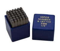 "1/8"" Letter and Number Punch Set 36 pc"