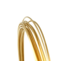 Gold Filled Round Wire, Half Hard--22 gauge
