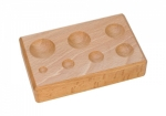 Wood Dapping Block with 7 Depressions