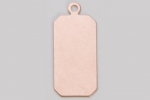 Metal Shapes - Copper Rectangle with Ring (PKG 6)