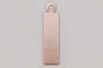 Metal Shapes - Copper Small Rectangle with Ring (PKG 6)
