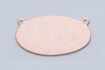 Metal Shapes - Horizontal Copper Oval (PKG 6)