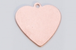 Metal Shapes - Copper Heart with Ring (PKG 6)