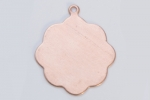 Metal Shapes - Copper Medallion with Attached Ring (PKG 6)
