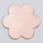 Metal Shapes - Copper Small 6 Petal Flower (PKG 6)