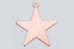 Metal Shapes - Copper Star with Ring (PKG 6)