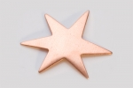 Metal Shapes - Copper Funky Star (PKG 6)
