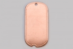 Metal Shapes - Copper Small Dog Tag with Hole (PKG 6)
