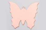 Metal Shapes - Copper Butterfly with Attached Ring (PKG 6)