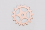 Metal Shapes - Copper Gear with Spokes (PKG 6)