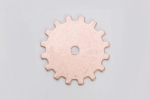 Metal Shapes - Copper Solid Gear (PKG 6)