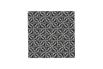 "Lillypilly - Black Geometric - 3x3"" Sheet"