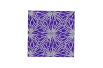 "Lillypilly - Spirograph Purple - 3x3"" Sheet"