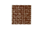 "Lillypilly - Brown Weave - 3x3"" Sheet"