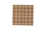 "Lillypilly - Brown Trellis - 3x3"" Sheet"