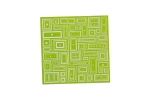 "Lillypilly - Mod Lime - 3x3"" Sheet"