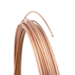 Rose Gold Filled Round Wire, Dead Soft--22 gauge